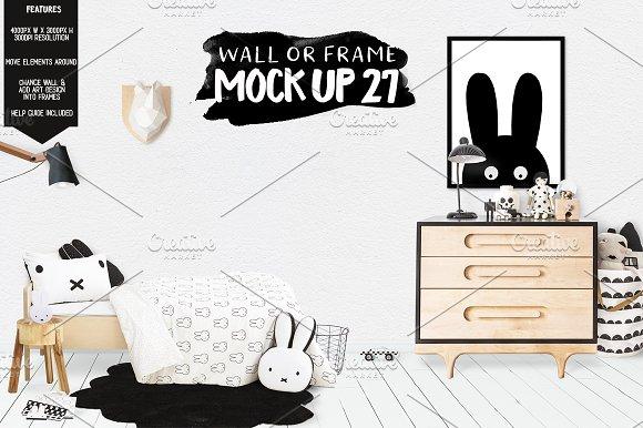 Download Kids Room Wall/Frame Mock Up 27