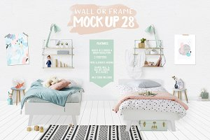 Kids Room Wall/Frame Mock Up 28