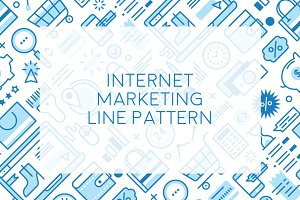 Internet Marketing Line Pattern