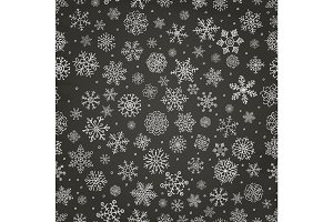 Pattern with Chalk Drawing Snowflake