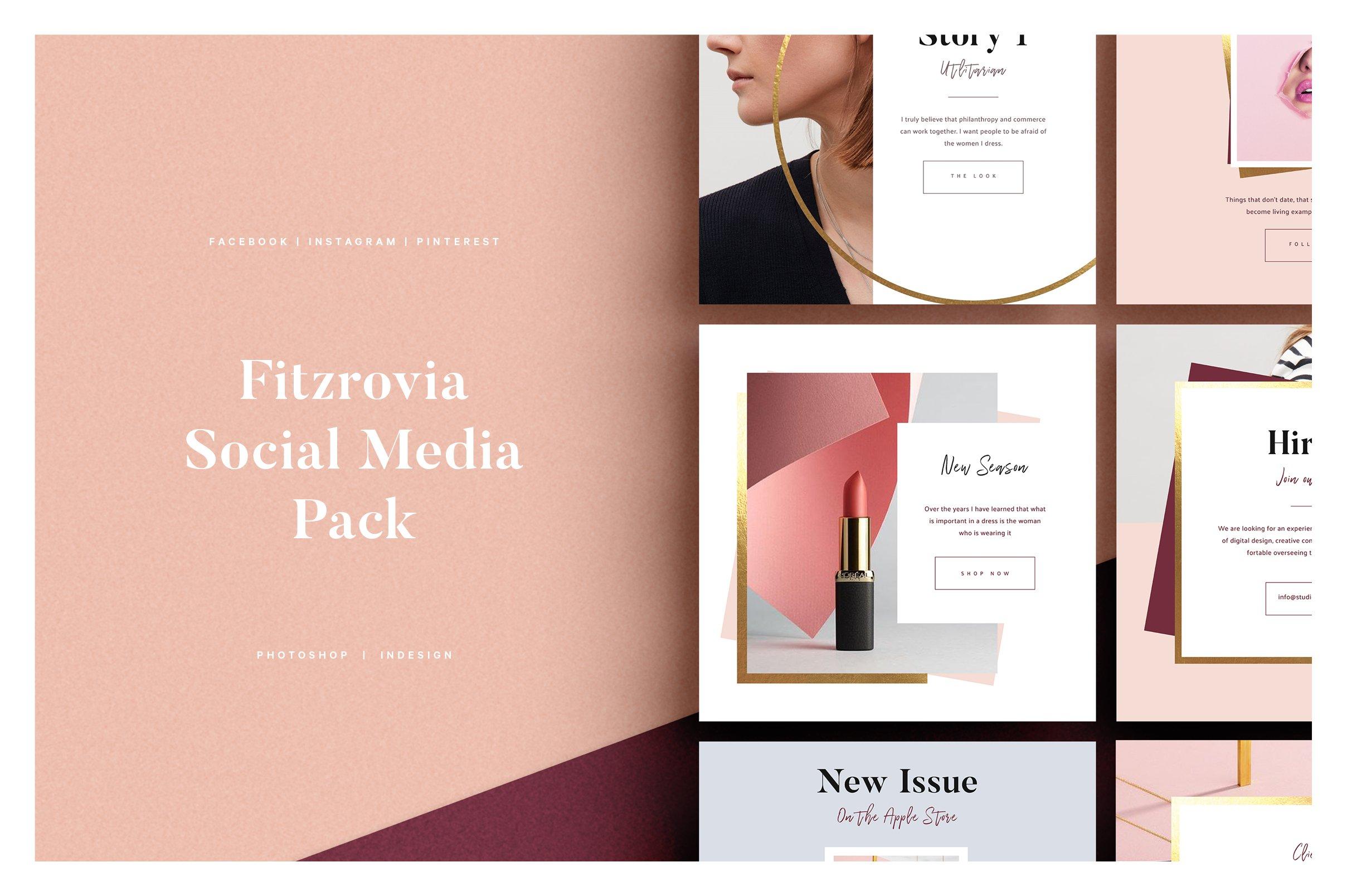 size 40 74812 efd5f FITZROVIA Social Media Pack ~ Social Media Templates ~ Creative Market