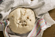 Homemade raw bread dough