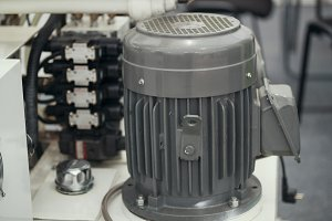 Industrial electric engine - part of machine for plastic sheets - chemistry industry