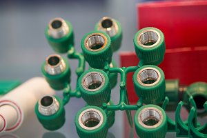 Set of plastic electric cartridges for bulb - industry plant