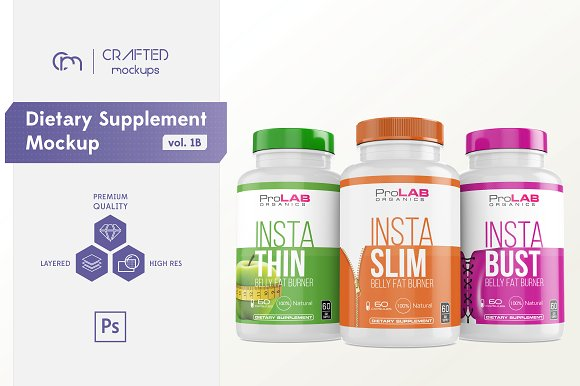 Download Dietary Supplement Mockup v. 1B