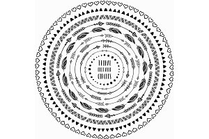 Tribal Circles + Pattern Brushes