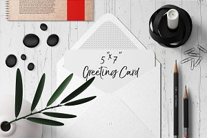 7x5 Greeting Card Mockup Pack - 1