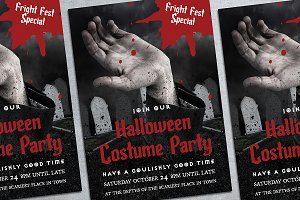 Halloween Party Poster Mockup