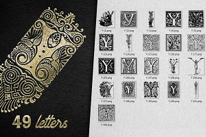Vintage Letter Y Vector And PNG
