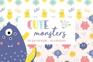 Cute Monsters Patterns