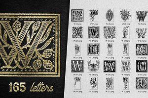 Vintage Letter W Vector And PNG