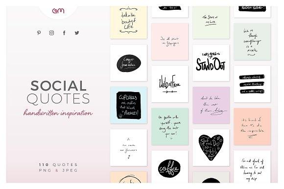 social quotes bundle social media templates creative market