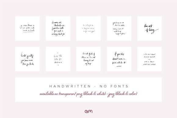Social Quotes Bundle Social Media Templates Creative Market
