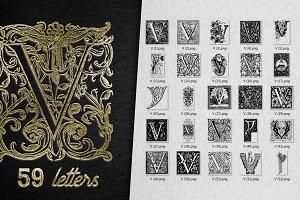 Vintage Letter V Vector And PNG