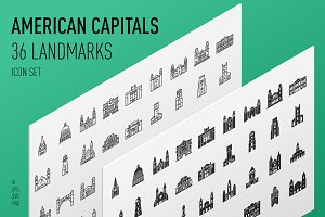 American Capitals Icon Set