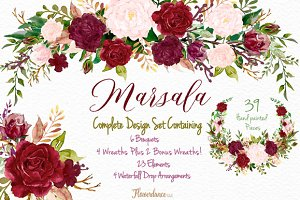 Marsala and Blush Design Collection
