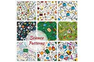 Science, research and education seamless patterns