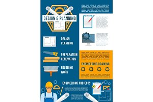 construction and building industry poster