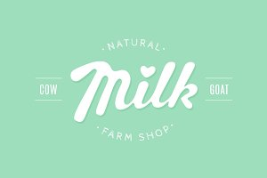 Lettering Milk, hand written design for brand