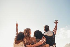 Group of friends enjoying