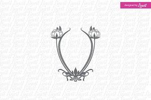 Art Nouveau Wedding Logo