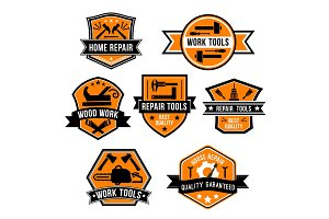 Hardware work tool isolated icons