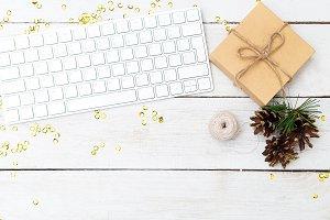 Desktop and  Christmas decoration