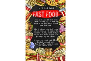 Fast food menu banner design