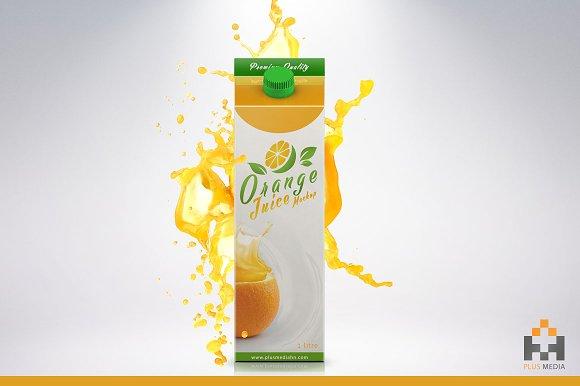 Free Juice Carton Package Mockup