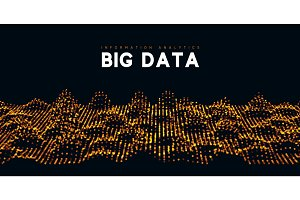 Big data visualization. Information wave technology.
