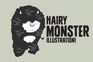 Hairy Monster Illustration!