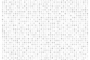 Streaming binary code background vector illustration. Data matrix