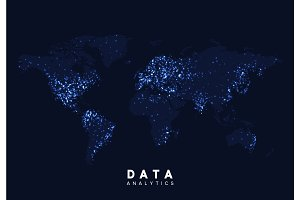 World Map. Data visualization.