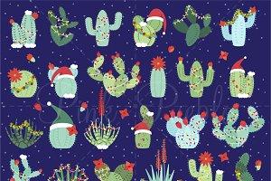 Christmas Cactus Clipart & Vectors