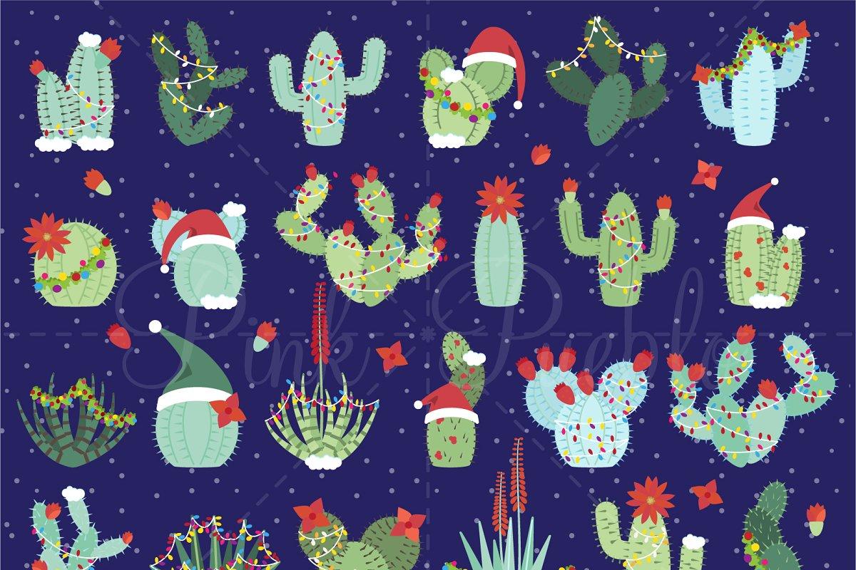 Christmas Cactus Clipart.Christmas Cactus Clipart Vectors Illustrations