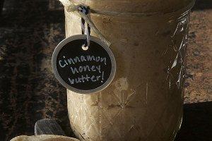 Cinnamon Honey Butter in a jar