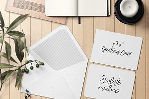 7x5 Greeting Card Mockup - 19