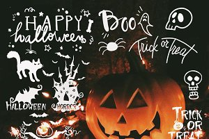 Halloween Photo Overlays Clipart PNG