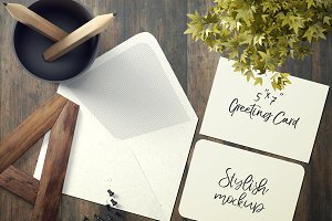 7x5 Greeting Card Mockup - 24