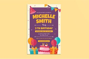 Colorful Birthday Invitation/Flyer