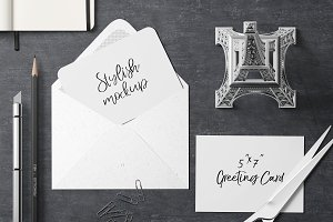 7x5 Greeting Card Mockup - 27