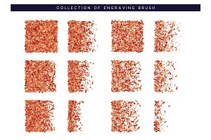 Brush stipple red confetti pattern for design
