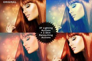 Set 2. 28 Photoshop Lighting Actions