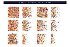 Brush stipple colored confetti pattern for design