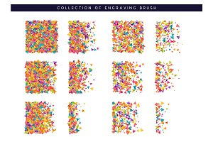 Brush stipple colored confetti pattern for design