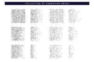 Set Brush stipple pattern for design. Dots texture
