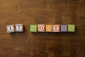 17 months in Wooden Blocks