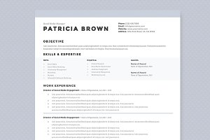 Clean Resume Template Pkg.