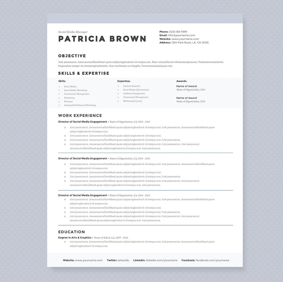 clean resume design template clean resume design