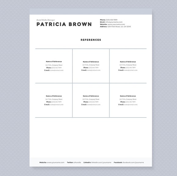 Clean Resume Template Pkg Templates Creative Market